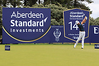 Joakim Lagergren (SWE) on the 14th tee during Round 1 of the Aberdeen Standard Investments Scottish Open 2019 at The Renaissance Club, North Berwick, Scotland on Thursday 11th July 2019.<br /> Picture:  Thos Caffrey / Golffile<br /> <br /> All photos usage must carry mandatory copyright credit (© Golffile | Thos Caffrey)