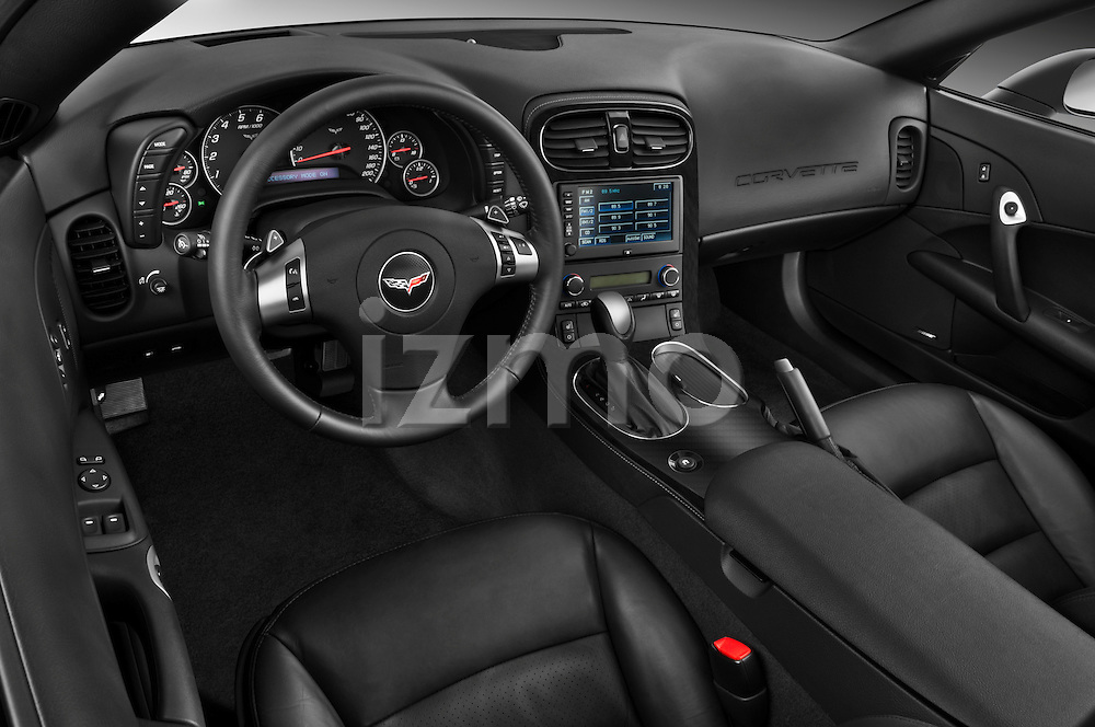 High angle dashboard view of a 2010 Chevrolet Corvette GS Coupe
