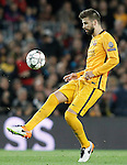 FC Barcelona's Gerard Pique during Champions League 2015/2016 match. April 5,2016. (ALTERPHOTOS/Acero)