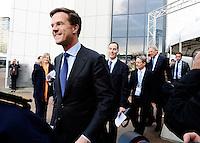 Nederland, Den Haag, 25 march 2014<br /> NSS 2014<br /> Rutte onderweg naar afsluitende persconferentie met Premier Mark Rutte en President Barrack Obama.<br /> Closing press conference of NSS 2014 with prime minister Mark Rutte and President Barrack Obama.<br /> Foto (c) Michiel Wijnbergh