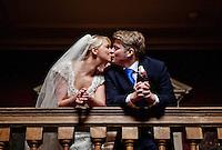 Jo & Thomas on their wedding day.