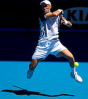 Nikolay Davydenko (RUS) (6) against Fernando Verdasco (ESP) (9) in the Fourth Round of the Mens Singles, Davydenko beat Verdasco 6-2 7-5 4-6 6-7 6-3..International Tennis - Australian Open Tennis - Monday 25 Jan 2010 - Melbourne Park - Melbourne - Australia ..© Frey - AMN Images, 1st Floor, Barry House, 20-22 Worple Road, London, SW19 4DH.Tel - +44 20 8947 0100.mfrey@advantagemedianet.com