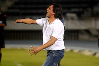 BARRANQUILLA- COLOMBIA -01 -08-2015: Eduardo Pimentel, tecnico de Boyaca Chico FC, durante partido entre Uniautonoma y Boyaca Chico FC, por la fecha 4 de la Liga Aguila II-2015, jugado en el estadio Metropolitano Roberto Melendez de la ciudad de Barranquilla. / Eduardo Pimentel, coach of Boyaca Chico FC, during a match between Uniautonoma and Boyaca Chico FC, for the date 4 of the Liga Aguila II-2015 at the Metropolitano Roberto Melendez Stadium in Barranquilla city, Photo: VizzorImage  / Alfonso Cervantes / Cont.