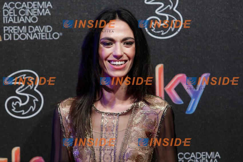 Roberta Mattei <br /> Roma 27-03-2017. Premio David di Donatello 2017.<br /> Rome March 27th 2017. David di Donatello ceremony 2017. <br /> Foto Samantha Zucchi Insidefoto