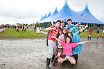 Sean, Paddy, John, Grainne, Claire and Agnes on Day 1 of the Oxegen Festival, Punchestown, Co.Kildare...(Photo credit should read Jenny Matthews www.newsfile.ie)....This Picture has been sent you under the conditions enclosed by:.Newsfile Ltd..The Studio,.Millmount Abbey,.Drogheda,.Co Meath..Ireland..Tel: +353(0)41-9871240.Fax: +353(0)41-9871260.GSM: +353(0)86-2500958.email: pictures@newsfile.ie.www.newsfile.ie.