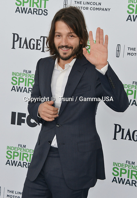 Diego Luna 053 at the Film Independent Spirit Awards 2014on the Santa Monica Beach In Los Angeles.