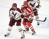 Mike Gill (BC - 22), Jeremy Hynes (BU - 4) - The Boston College Eagles defeated the visiting Boston University Terriers 6-2 in ACHA play on Sunday, December 4, 2011, at Kelley Rink in Conte Forum in Chestnut Hill, Massachusetts.