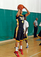 April 9, 2011 - Hampton, VA. USA; Bryn Forbes participates in the 2011 Elite Youth Basketball League at the Boo Williams Sports Complex. Photo/Andrew Shurtleff