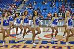 The Texas-Arlington Mavericks dance team in action during the game between the Idaho Vandals and the Texas Arlington Mavericks at the College Park Center arena in Arlington, Texas. Idaho defeats Arlington 77 to 64....