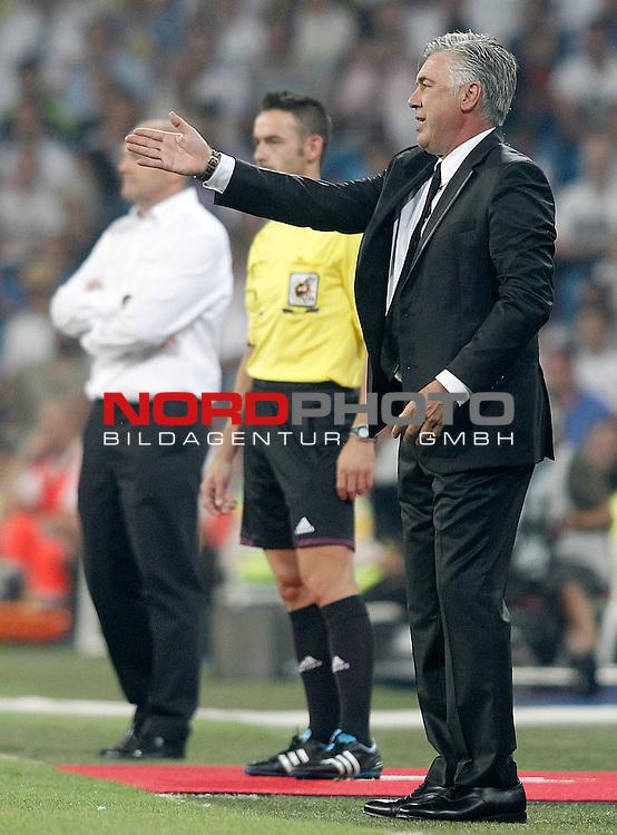 Real Madrid's coach Carlo Ancelotti during La Liga match.August 18,2013. Foto © nph / Acero)