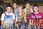Ciarán O'Sullivan, Sarah Cronin, Aileen Moriarty, Norita Cronin and Michael Dillane who played tunes for the crowd at the Fossa Ceili in Darby O'Gills on Friday night