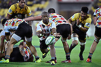 Kings' Nando Kebe in action during the Super Rugby - Hurricanes v Southern Kings at Westpac Stadium, Wellington, New Zealand on Friday 25 March 2016.<br /> Photo by Masanori Udagawa. <br /> www.photowellington.photoshelter.com.
