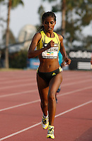 Ejegayehu Dibaba finished 2nd. in the 5000m run with a time of 15:07.45 at the Adidas Track Classic 2009 on Saturday May 16, 2009. Photo by Errol Anderson, The Sporting Image.net