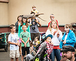 Red tailed hawk Sundance flys by an onlooking crowd during the Wild Life Live show at The Oregon Zoo. © Oregon Zoo / Photo by Carli Davidson