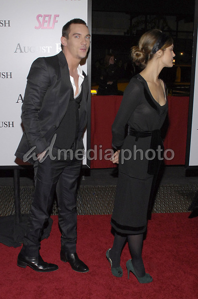 """11 November 2007 - New York, New York - Jonathan Rhys Meyers and Keri Russell. The New York premiere of Warne Bros. Pictures' """"August Rush"""" held at  the Ziegfeld Theater.  Photo Credit: Bill Lyons/AdMedia *** Local Caption ***"""