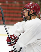 Greg Gozzo (Harvard - 13) - The Harvard University Crimson practiced on Friday, October 22, 2013, at Bright-Landry Hockey Center in Cambridge, Massachusetts.