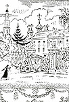 "Mstislav Dobuzhinsky (1875–1957)<br /> Illustration for the novel by Nikolai Karamzin ""Poor Liza"". 1921"