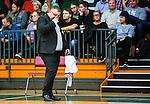 S&ouml;dert&auml;lje 2015-04-10 Basket SM-Semifinal 5 S&ouml;dert&auml;lje Kings - Sundsvall Dragons :  <br /> Sundsvall Dragons head coach Tommie Hansson set nedst&auml;md ut under matchen mellan S&ouml;dert&auml;lje Kings och Sundsvall Dragons <br /> (Foto: Kenta J&ouml;nsson) Nyckelord:  S&ouml;dert&auml;lje Kings SBBK T&auml;ljehallen Sundsvall Dragons depp besviken besvikelse sorg ledsen deppig nedst&auml;md uppgiven sad disappointment disappointed dejected tr&auml;nare manager coach