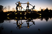 """Sculptures are seen at """"Grounds For Sculpture"""" park and museum in Central Park in Hamilton Township 08.11.2015.Grounds For Sculpture is a 42-acre sculpture park with six indoor galleries, a Museum Shop Eduardo Munoz/VIEWpress."""