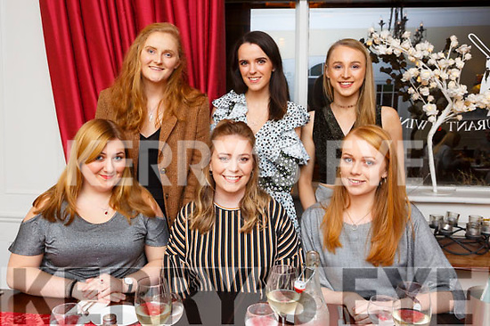 Rebecca Maunsel, seated front centre, from Ballyseedy celebrating her 23rd birthday in the Denny Lane with her friend on Saturday night. Front l-r, Cassandra Stack, Birthday Girl Rebecca Maunsel and Laura Maunsel.<br /> Back l-r, Aine Daly, Elaine Reilly and Laura Lynch.