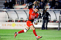 Alby Mathewson of Toulon celebrates scoring a tryduring the European Champions Cup match between RC Toulon and Bath on December 9, 2017 in Toulon, France. (Photo by Guillaume Ruoppolo/Icon Sport)