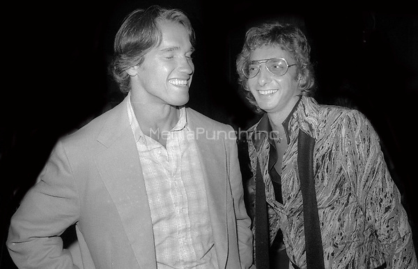 Arnold Schwarzenegger and Barry Manilow 1978<br /> Photo By Adam Scull/PHOTOlink/MediaPunch