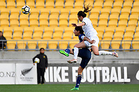 Japan&rsquo;s Saki Kumagai and Ferns&rsquo; Amber Hearn  in action during the  International Football - Football Ferns v Japan  at Westpac Stadium, Wellington, New Zealand on Sunday 10 June 2018.<br /> Photo by Masanori Udagawa. <br /> www.photowellington.photoshelter.com