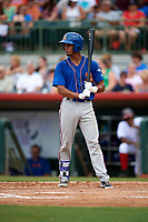 St. Lucie Mets shortstop J.C. Rodriguez (2) at bat during a game against the Florida Fire Frogs on July 23, 2017 at Osceola County Stadium in Kissimmee, Florida.  St. Lucie defeated Florida 3-2.  (Mike Janes/Four Seam Images)