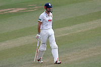 Alastair Cook of Essex leaves the field having been dismissed for 3 during Essex CCC vs Somerset CCC, Specsavers County Championship Division 1 Cricket at The Cloudfm County Ground on 28th June 2018