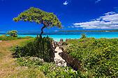 Baie de Châteaubriand, tribu de Luecila, Lifou, Nouvelle-Calédonie