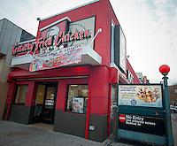 A Kentucky Fried Chicken franchise restaurant is seen in the Bedford-Stuyvesant neighborhood of Brooklyn in New York on Sunday, November 20, 2011.  (© Richard B. Levine)