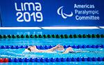 Lima, Peru -  26/August/2019 - Jacob Brayshaw competes in the men's 200m freestyle S3 at the Parapan Am Games in Lima, Peru. Photo: Dave Holland/Canadian Paralympic Committee.