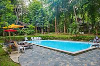 Thailand, Mae Hong Son. Fern Resort. Pool.