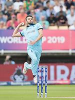 Mark Wood (England) in action during Australia vs England, ICC World Cup Semi-Final Cricket at Edgbaston Stadium on 11th July 2019