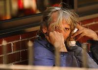 Man with coffee, Syracuse New York.