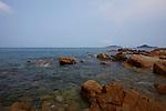 Ocean and rocks near Quy Nhon, Vietnam. April 28, 2016.