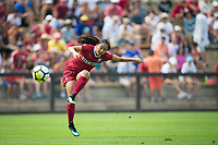 STANFORD, CA - September 3, 2017: Michelle Xiao at Cagan Stadium. Stanford defeated Navy 7-0.