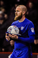 Cardiff City's midfielder Aron Gunnarsson (17) during the Sky Bet Championship match between Sheff United and Cardiff City at Bramall Lane, Sheffield, England on 2 April 2018. Photo by Stephen Buckley / PRiME Media Images.
