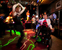 Healthcare advocate Kara Vander Veer cuts loose on the dance floor at Trexx, an alternative lifestyle dance club in downtown Syracuse where she feels comfortable being herself.  Photo by James R. Evans ©