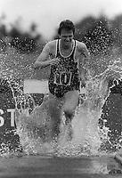 Pix:Michael Steele/SWpix...Steeplchase, Cwmbran, Wales. 1985...COPYRIGHT PICTURE>>SIMON WILKINSON..Steeplechase, Cwmbran, Wales.