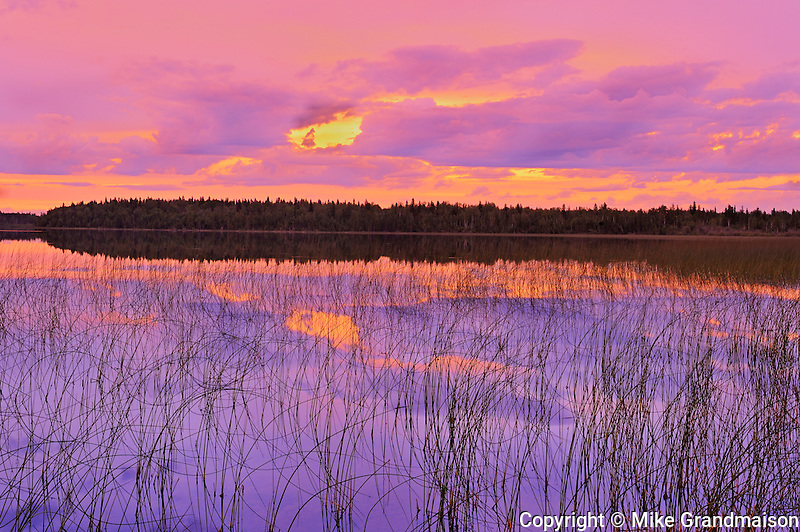 Sunset on Carey Lake in Northern Ontario<br /> Hearst<br /> Ontario<br /> Canada