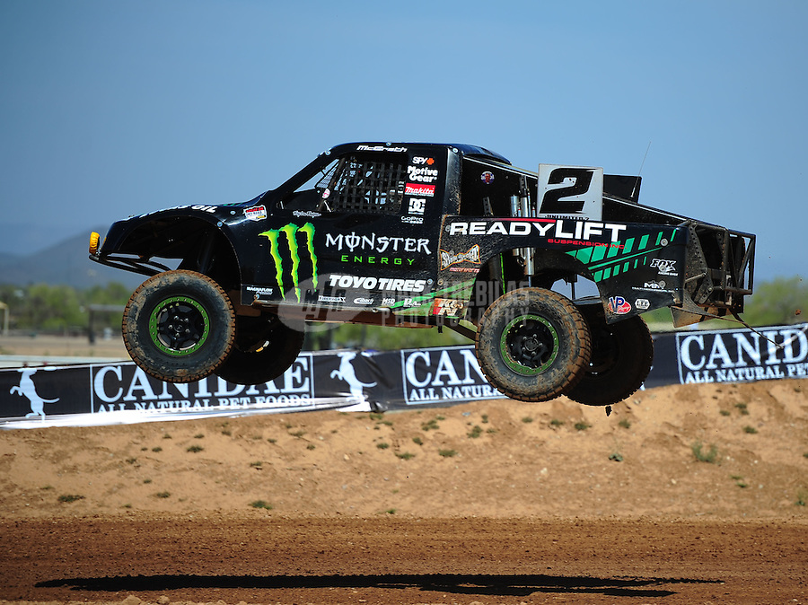 Apr 15, 2011; Surprise, AZ USA; LOORRS driver Jeremy McGrath (2) during round 3 and 4 at Speedworld Off Road Park. Mandatory Credit: Mark J. Rebilas-.
