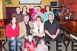 ANNIVERSARY: The O'Mahony Family, Leith West, Tralee, treated their parents, John and Mary O'Mahony, to dinner at Kirby's Brogue Inn on Sunday to celebrate their 35th Wedding Anniversary. Front: John and Nicole O'Mahony. Seated l-r: Caroline, John, Mary and PJ O'Mahony. Back l-r: Matty and Trish Dillon, Valerie, Timmy and Sheila Enright.