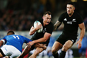 16th June 2017, Eden Park, Auckland, New Zealand; International Rugby Pasifika Challenge; New Zealand versus Samoa;  Israel Dagg of New Zealand is tackled by Tim Nanai-Williams of Samoa