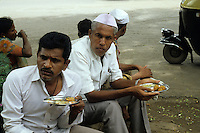 People eating Street Food