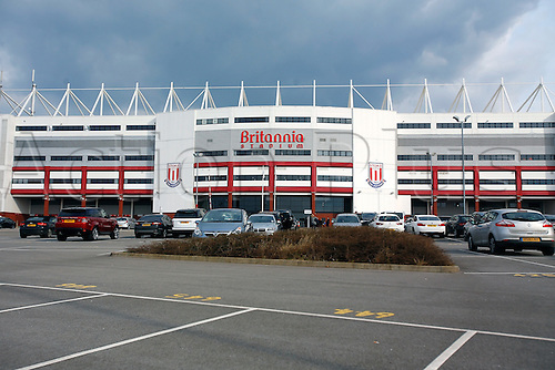 27.02.2016. Britannia Stadium, Stoke, England. Barclays Premier League. Stoke City versus Aston Villa. A general view from the outside of the stadium