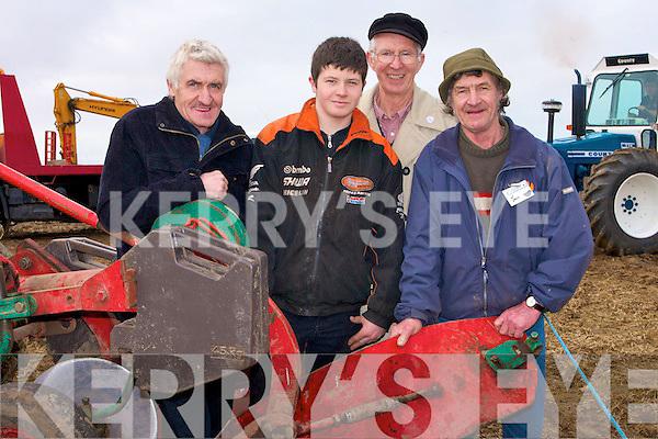 Tom Barrett (Causeway), Thomas and Michael Stretch (Ballyheigue) getting their plough ready for the Abbeydorney Ploughing Championships on Sunday in Abbeydorney.......................