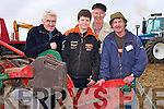 Tom Barrett (Causeway), Thomas and Michael Stretch (Ballyheigue) getting their plough ready for the Abbeydorney Ploughing Championships on Sunday in Abbeydorney.......................