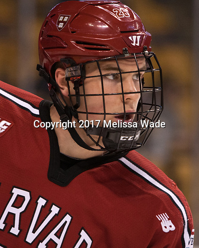 Jacob Olson (Harvard - 26) - The Harvard University Crimson defeated the Boston University Terriers 6-3 (EN) to win the 2017 Beanpot on Monday, February 13, 2017, at TD Garden in Boston, Massachusetts.