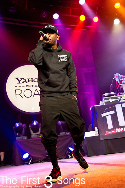Kendrick Lamar performs during the Yahoo! On The Road at Bogart's in Cincinnati, Ohio.
